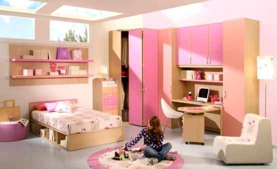 Pembe Renk Oda Dekorasyon Örnekleri 3