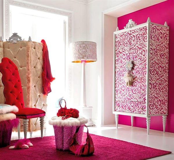 Pembe Renk Oda Dekorasyon Örnekleri 4