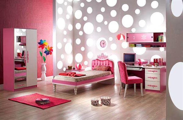 Pembe Renk Oda Dekorasyon Örnekleri 6