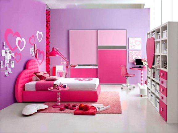 Pembe Renk Oda Dekorasyon Örnekleri 8