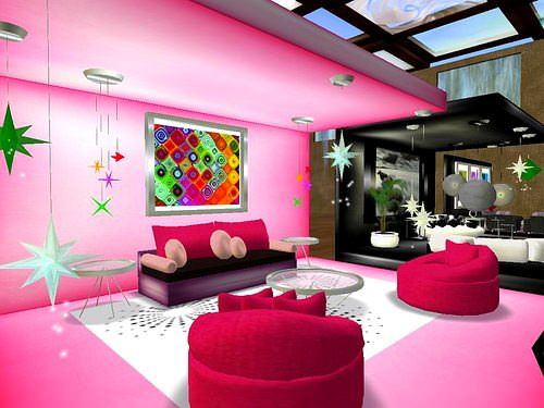 Pembe Renk Oda Dekorasyon Örnekleri 10
