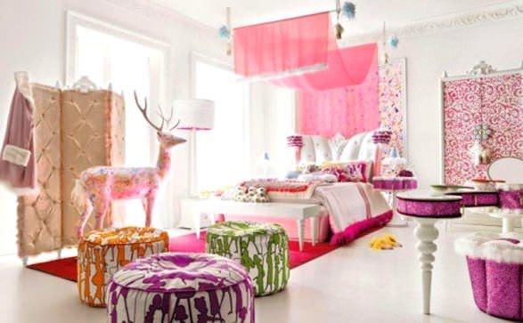 Pembe Renk Oda Dekorasyon Örnekleri 12