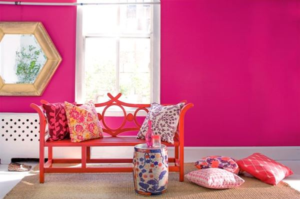 Pembe Renk Oda Dekorasyon Örnekleri 9