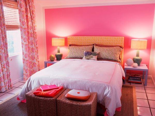 Pembe Renk Oda Dekorasyon Örnekleri 13
