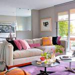 Mor ve Lila Renkli Oda Renk Dekorasyonları
