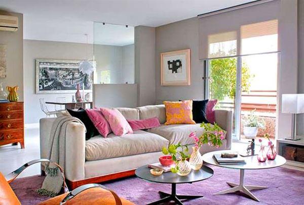 Mor ve Lila Renkli Oda Renk Dekorasyonları 10