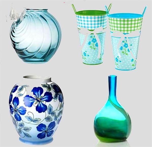 Dekoratif cam ve porselen vazo modelleri 9