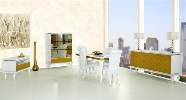 Rapsodi Mobilya Dekoratif Yemek Odası Modelleri rapsodi mobilya dekoratif yemek odası modelleri - rapsodi floo beyaz sari yemek odasi - Rapsodi Mobilya Dekoratif Yemek Odası Modelleri