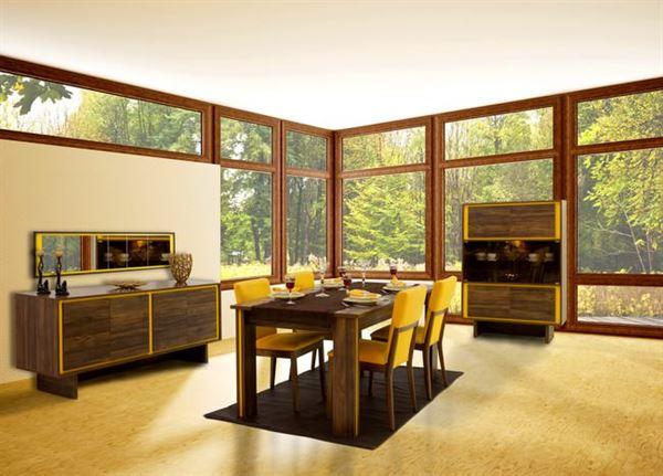 Rapsodi Mobilya Dekoratif Yemek Odası Modelleri rapsodi mobilya dekoratif yemek odası modelleri - rapsodi scarlet sari ceviz yemek odasi - Rapsodi Mobilya Dekoratif Yemek Odası Modelleri