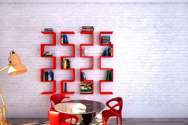 Değişik Tasarımlarda Renkli Duvar Raf Modelleri 2