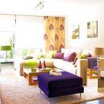 Renkli Yaza Özel Oturma Odası Dekorasyon Fikirleri 6