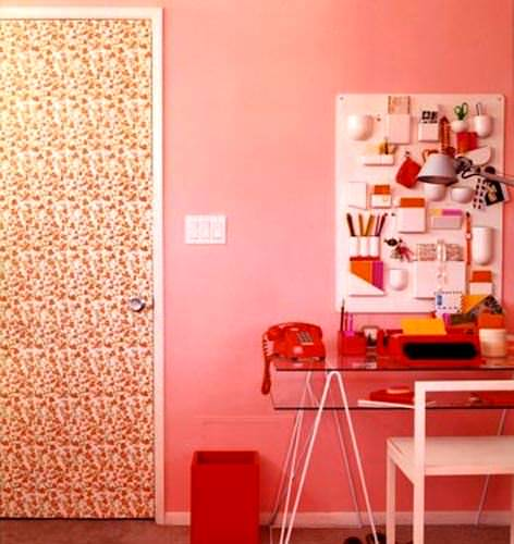 Duvar Kağıdıyla İç Kapı Süslemeleri 6