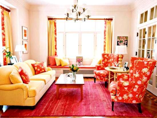 Renkli Oturma Odası Dekorasyon Fikirleri 38