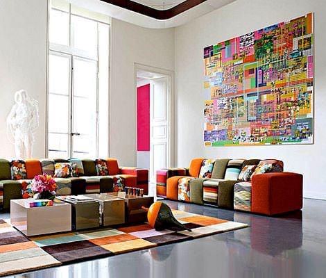 Modern Renkli Oturma Grupları