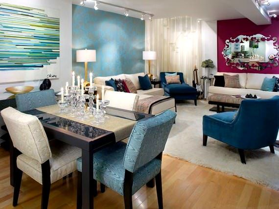Renkli BoConcept Oturma Odası Dekorasyon Fikirleri 9