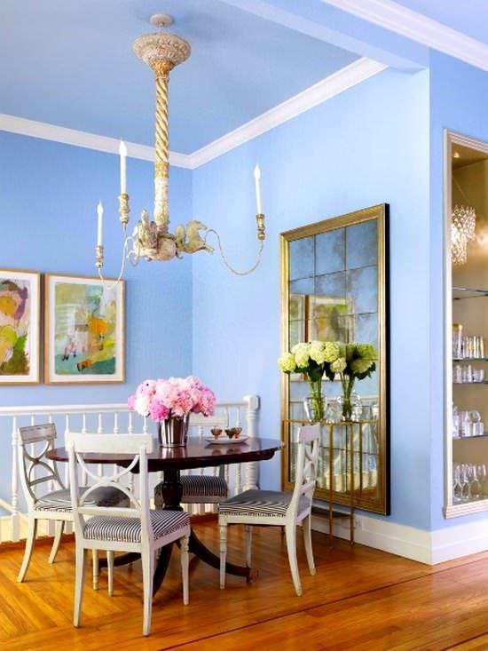 Romantik Renkli Yemek Odası Fikirleri 13