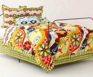 Renkli Yatak Örtü Modelleri