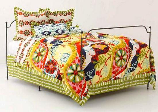 Renkli Yatak Örtü Modelleri 5
