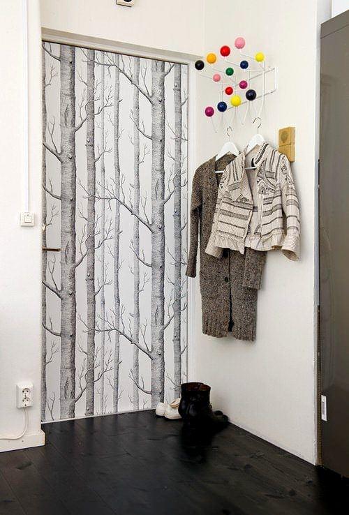Duvar Kağıdıyla İç Kapı Süslemeleri 7