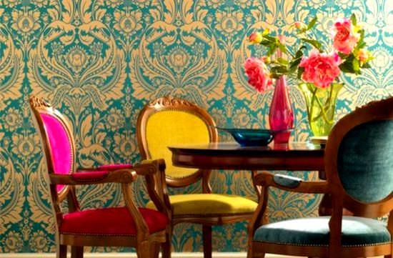 Romantik Renkli Yemek Odası Fikirleri 4