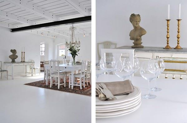 Büyük Beyaz Rustik Ev Dekorasyonu 16
