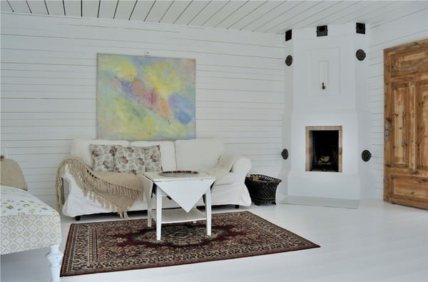 Büyük Beyaz Rustik Ev Dekorasyonu 17