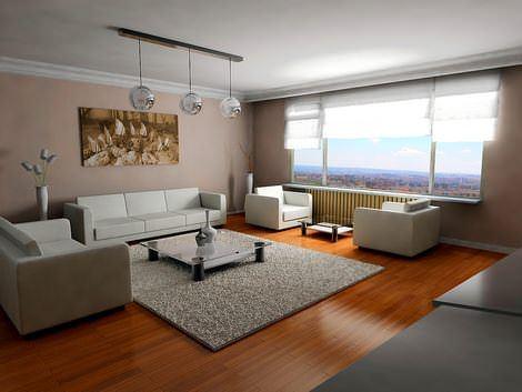Modern Yeni Trent Oturma Odası Fikirleri 1