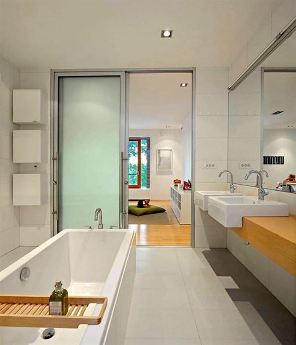 modern yenilikçi banyo dekorasyon stilleri - sade hos banyo dekoru - Modern Yenilikçi Banyo Dekorasyon Stilleri