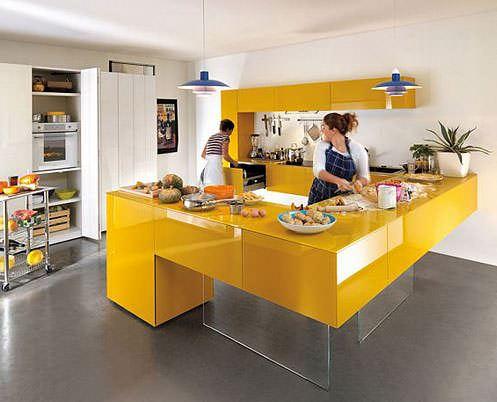 renkli mutfak dekoru