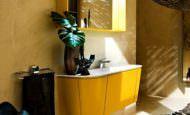 Sarı Banyo Dolap Modeli