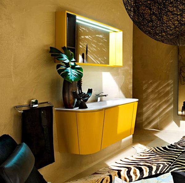Sarı Banyo Dolap Modeli 5