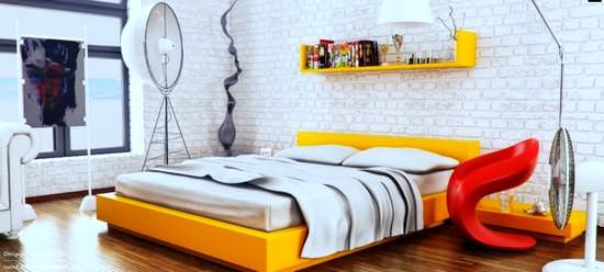 zarif dekorasyonlu yatak odası