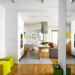 oturma odası dekorasyon fikirleri - sari beyaz renkli dekorasyon ornekleri 150x150 - Oturma Odası Dekorasyon Fikirleri