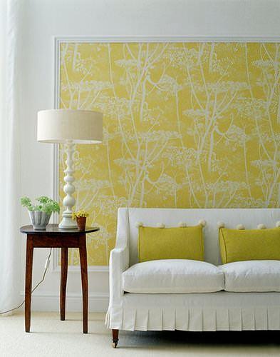 sarı desenli duvar kağıt yeni tasarım duvar kağıt desenleri ve renkleri - sari cicekli oturma odasi duvar kagidi - Yeni Tasarım Duvar Kağıt Desenleri Ve Renkleri