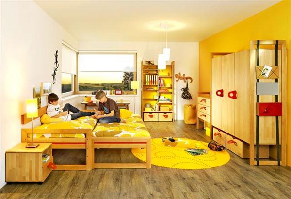 Sarı Renk Genç Odası Mobilya Ve Dekorasyonu 17