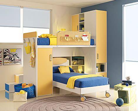 kullanışlı ranza modelleri fonksiyonel renkli ranzalı genç odaları