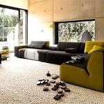 renkli koltuk takımlarıyla oda dekorasyonu - sari siyah modern kanepe 150x150