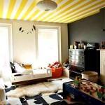 modern tavan dekorasyon modelleri - sari tavan modeli 150x150 - Modern Tavan Dekorasyon Modelleri