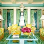 oturma odası dekorasyon fikirleri - sari yesil dekorasyon 150x150 - Oturma Odası Dekorasyon Fikirleri