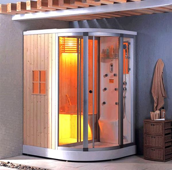 buharlı modern duşa kabin modelleri - saunali cam dusa kabin - Buharlı Modern Duşa Kabin Modelleri