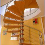 Oval Dubleks Daire Merdivenleri