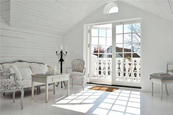 Büyük Beyaz Rustik Ev Dekorasyonu 19