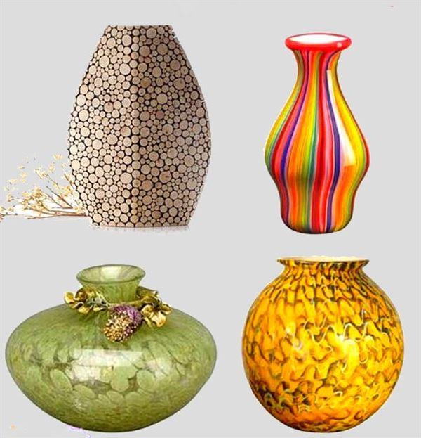 Dekoratif cam ve porselen vazo modelleri 11