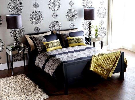 lüks yatak odası yatak örtü modelleri