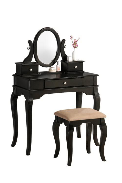 siyah makyaj masası