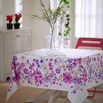 Renkli Desenli Masa Örtüsü Modelleri