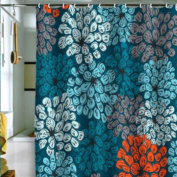 Canlı Renk Ve Desenlere Sahip Duş Perdeleri 10