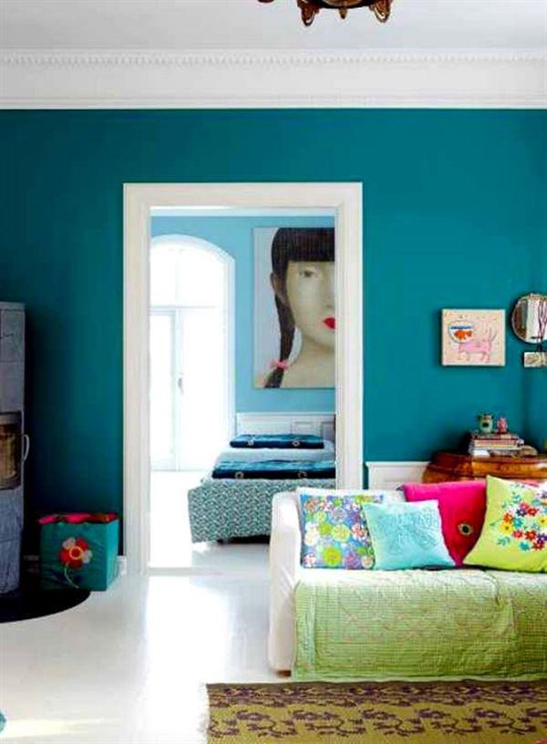 turkuaz renk dekorasyon