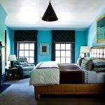 Turkuaz renkle oda renk kombinasyonları