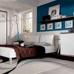 lüks 2012 yatak odası modelleri - turkuaz duvarli yatak odasi 150x150 - Lüks 2012 Yatak Odası Modelleri